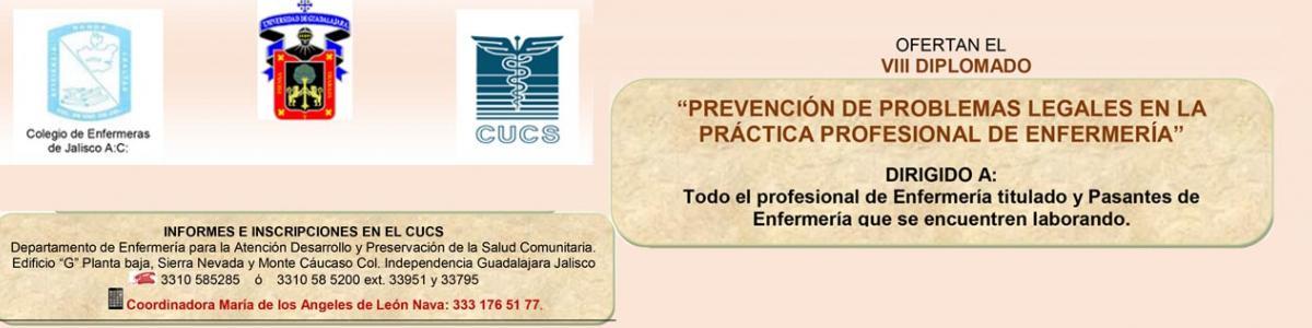 """VIII diplomado """"Prevención de problemas legales en la práctica profesional de Enfermería"""""""