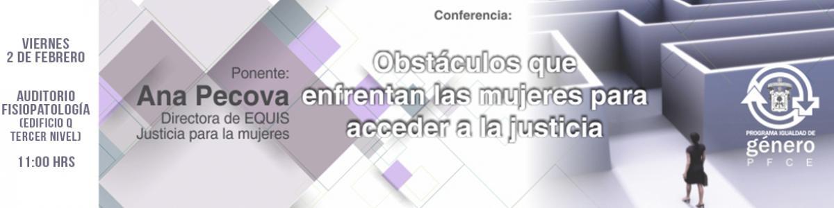Conferencia: Obstáculos de la mujer para acceder a la justicia
