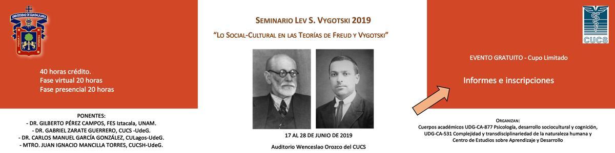 """Seminario Vygostski 2019 """"Lo Social-Cultural en las Teorías de Freud y Vygotski"""""""