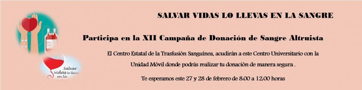 XII Campaña de Donación de Sangre Altruista