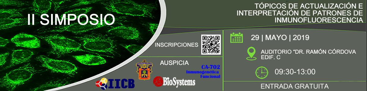 """II Simposio de Tópicos de Actualización """"Patrones de Inmunofluorescencia"""""""