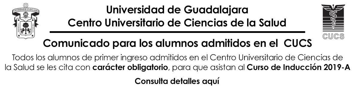 Comunicado para alumnos admitidos curso inducción 2019 A