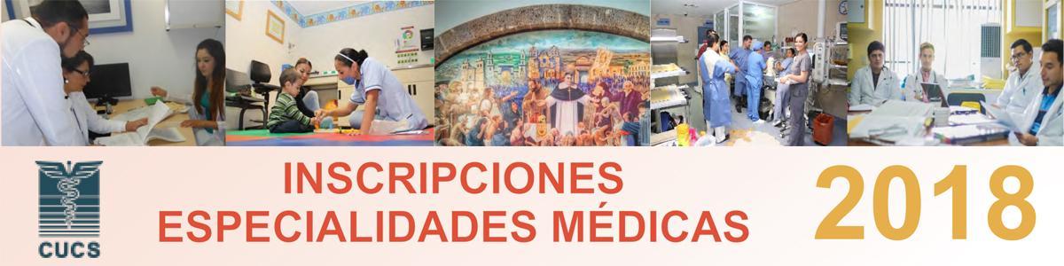 INSCRIPCIONES ESPECIALIDADES MÉDICAS