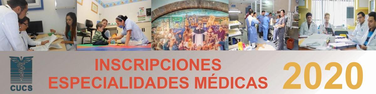Inscripciones Especialidades Médicas 2020