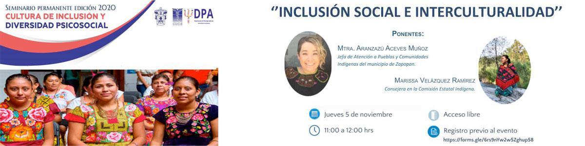 Inclusión social e interculturalidad