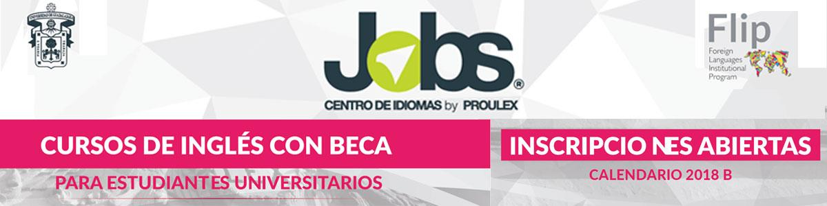 Convocatoria para aspirar a las becas para estudiar inglés en el Programa Jobs Ciclo 2018 B