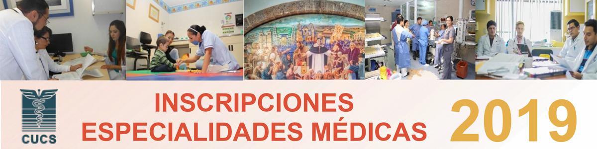 Especialidades medicas 2019