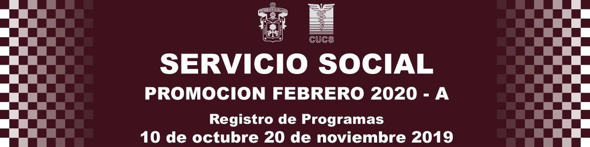 Servicio Social, Promoción Febrero 2020-A