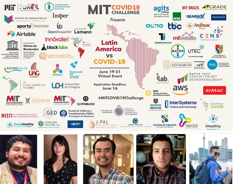 Banner de la convocatoria del Challenge del MIT con fotografía de los ganadores