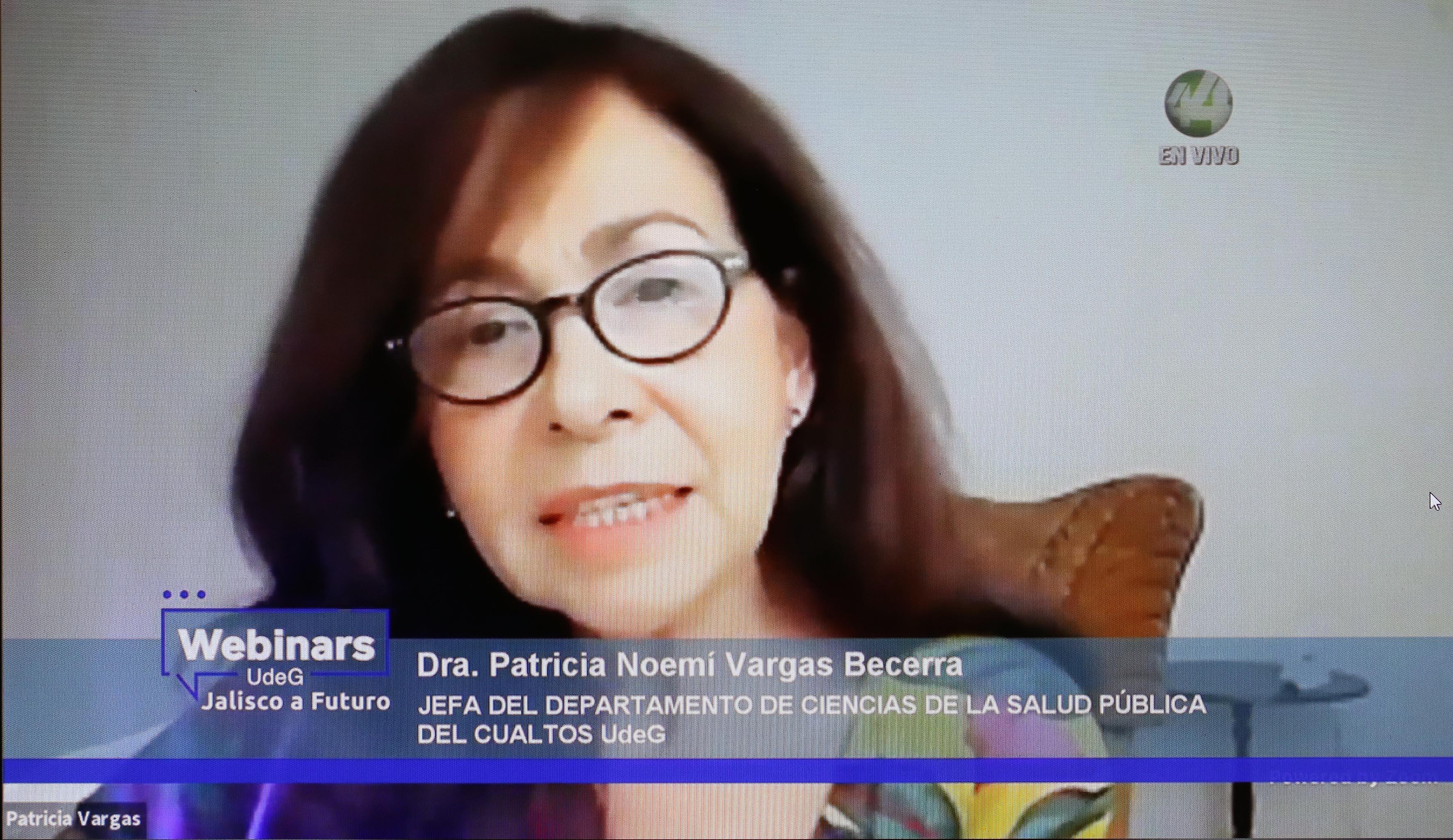 Dra. Patricia Noemí Vargas Becerra, directiva de CUAltos, particpante en el Webinar