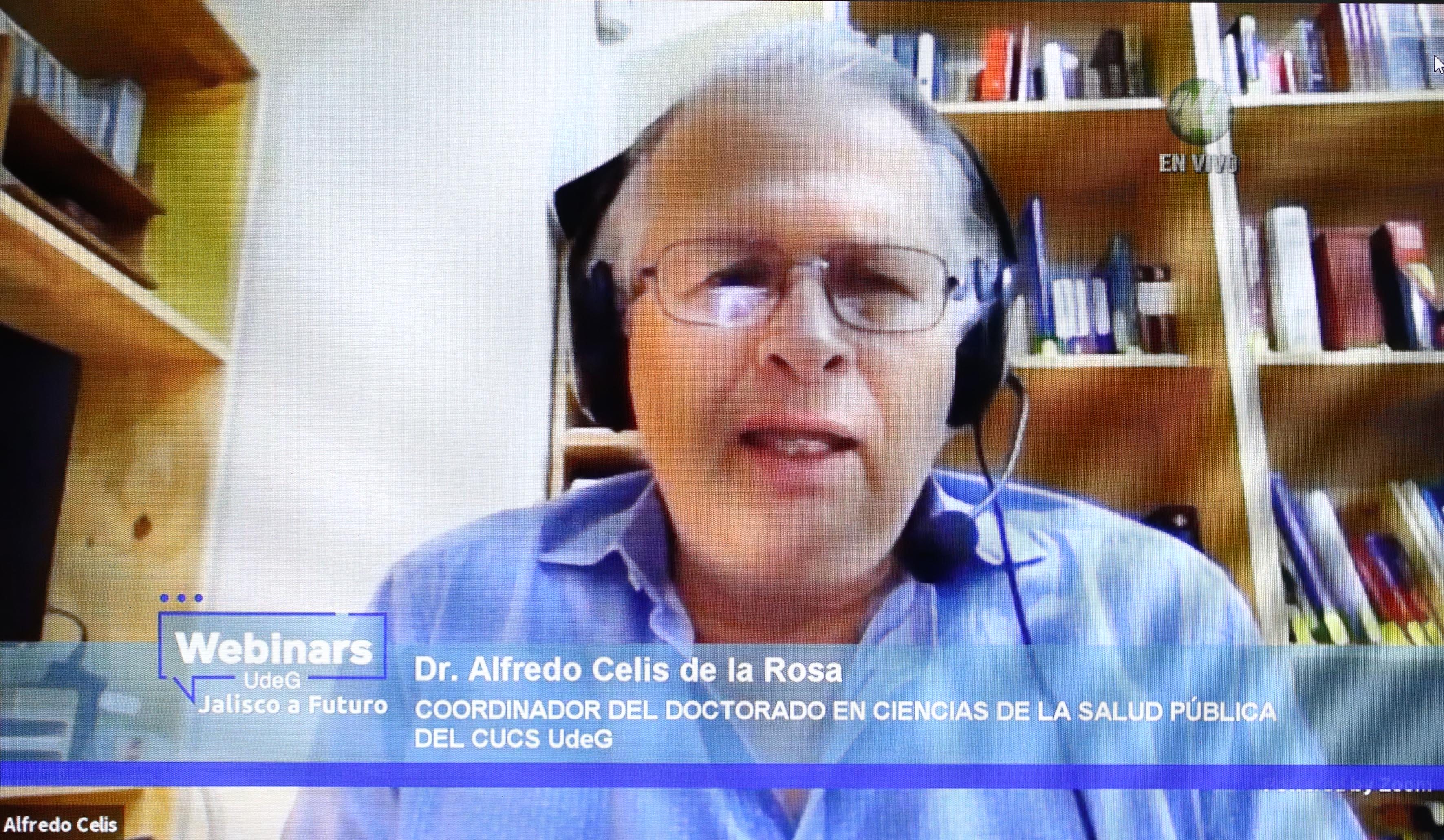 Dr. Alfredo Celis de la Rosa, directivo del CUCS participantes en el Webinar