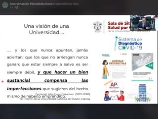 Caputra de pantalla de diapositiva utizada en conferencia