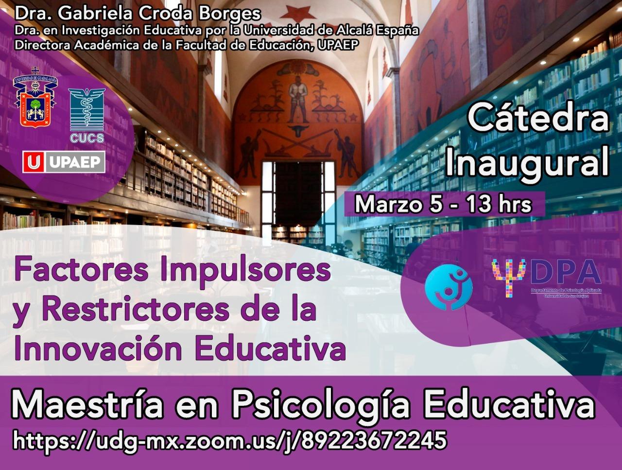 Banner promociona de la conferencia magistral