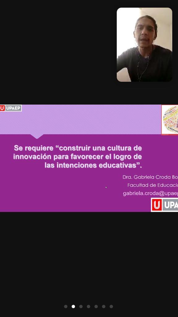 Diapositiva con la frase de cierre de la conferencia